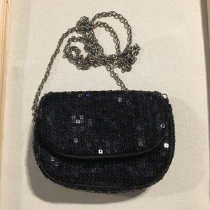 Black sequin Claires handbag crossbody